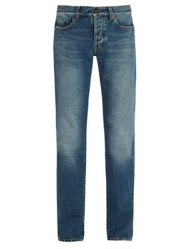 Distressed Slim Leg Jeans by Saint Laurent