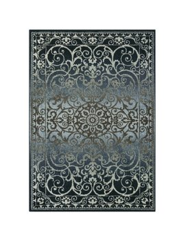 Mainstays India Medallion Textured Print Area Rug And Runner Collection, Multiple Sizes And Colors by Mainstays
