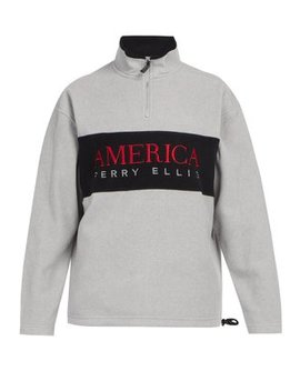 Half Zip Fleece Sweater by Perry Ellis America