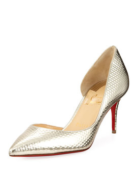 Iriza Calf Cubiste Mid Heel Red Sole Pumps by Christian Louboutin