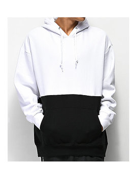 Zine Mass White & Black Hoodie by Zine