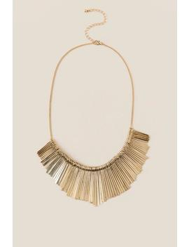Taye Fringe Sunburst Necklace by Francesca's
