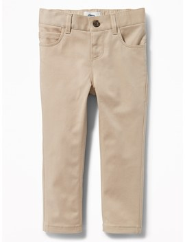 Skinny Twill Uniform Pants For Toddler Girls by Old Navy