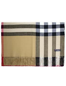 2 Ply 100 Percents Cashmere Blanket Oversized Scarf Os Tartan Check Scotland Wool Plaid by Cashmere Made In Scotland