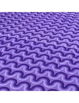Verner Panton Small 'curve' Spectrum Cotton Curtain For Mira X In Violet by Etsy
