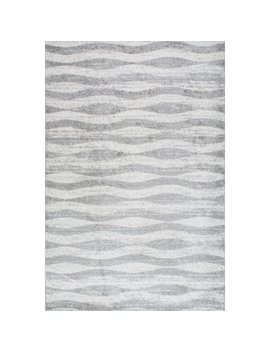 Mercury Row Pantheras Abstract Waves Gray/White Area Rug & Reviews by Mercury Row