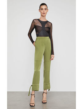 Faux Leather Trimmed Bodysuit by Bcbgmaxazria
