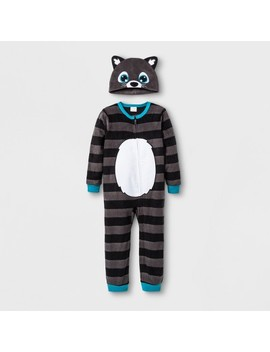 Toddler Boys' Racoon Blanket Sleeper   Cat & Jack™ Black by Cat & Jack