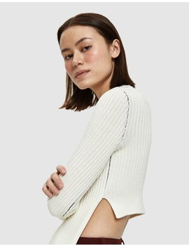 Apron Ribbed Sweater by Mm6 Maison Margiela