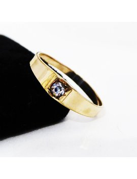 Victorian Gold Filled Band Ring W/ Mined Rock Crystal Stone Size 7 Georgian Era Vintage 1860s 1870s 1880s Wedding, Engagement, Gift For Her by Etsy