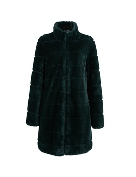 Green Carved Faux Fur Coat by Dorothy Perkins