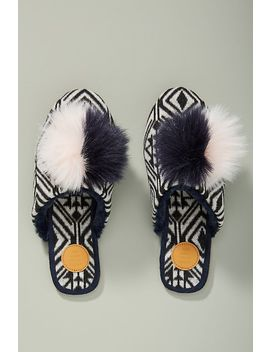 Far Away From Close Graziella Pommed Slippers by Far Away From Close