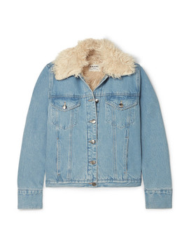 Faux Shearling Lined Denim Jacket by Frame