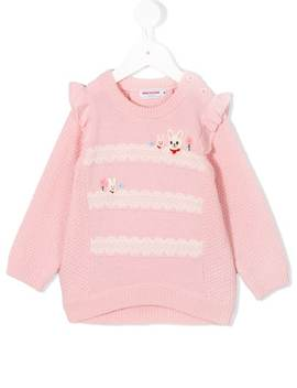 Bunny Detail Knitted Sweater by Miki House