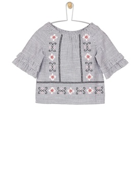 **Girls Black Striped Woven Top (18 Months   6 Years) by Dorothy Perkins