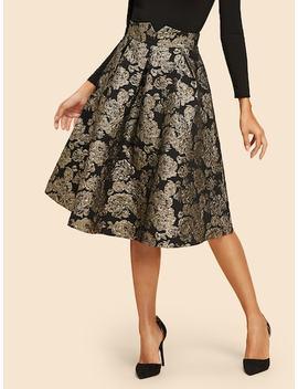 Flare Flower Skirt by Shein