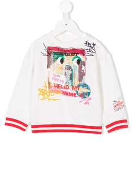 Graphic Print Sweatshirt by Burberry Kids