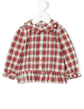 Tartan Frill Trim Shirt by Ralph Lauren Kids