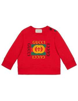 Baby Sweatshirt With Gucci Logo by Gucci Kids