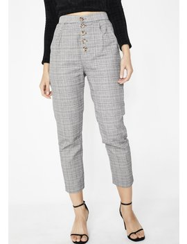 Let It Be Plaid Trousers by Cotton Candy