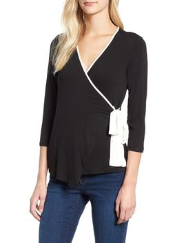 Tipped Wrap Top by Bobeau