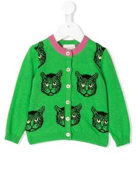 Baby Mystic Cats Cardigan by Gucci Kids