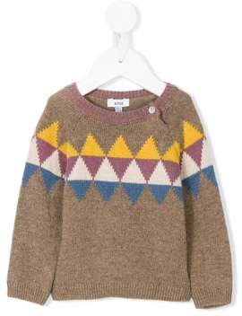 Intarsia Knit Sweater by Knot