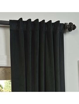Half Price Drapes Vpch 194007 120 Signature Blackout Velvet Curtain, Warm Black, 50 X 120 by Hpd Half Price Drapes