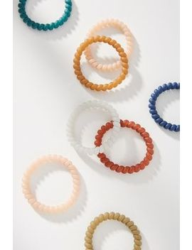 Rubberized Coil Hair Tie Set by Anthropologie