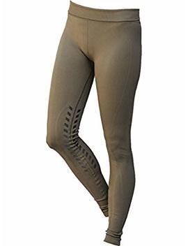 Goode Rider Designer Seamless Tights Knee Patch Navy Medium by Goode Rider