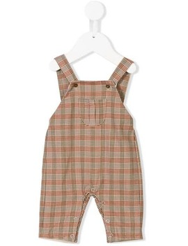 Front Pocket Check Dungarees by Knot