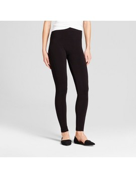 Women's Seamless Fleece Lined Leggings   A New Day™ Black S/M by A New Day