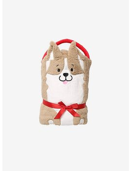 Corgi Plush Figural Throw Blanket by Hot Topic