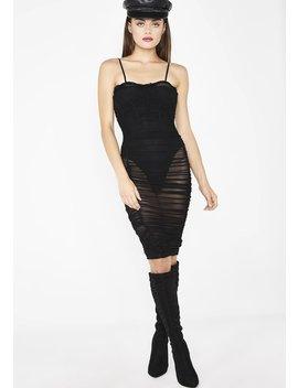 Lady Vamp Sheer Dress by Hera Knit