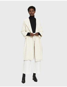 Cotton Jacquard Coat by Black Crane