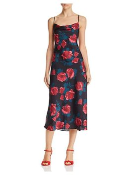 Giovanna Floral Satin Dress by Paige
