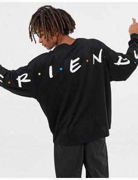 Asos Design Friends Oversized Long Sleeve T Shirt by Asos Design