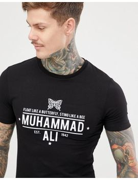 Asos Design Muscle Fit T Shirt With Muhammad Ali Print by Asos Design
