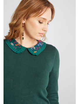 Made Meaningful Collared Sweater by Modcloth