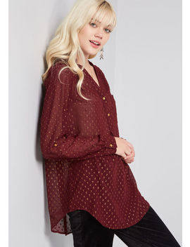 Pam Breeze Ly Long Sleeve Tunic by Modcloth