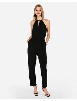 Keyhole Cut Out Halter Jumpsuit by Express