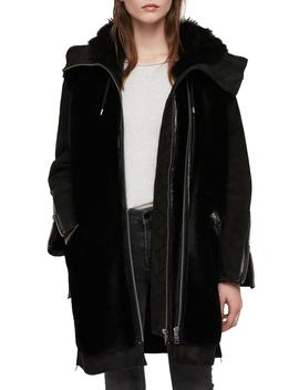 State Lux Suede Parka With Genuine Shearling Trim by Allsaints