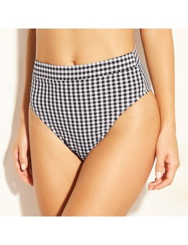 Women's Gingham High Waist Bikini Bottom   Xhilaration™ by Xhilaration