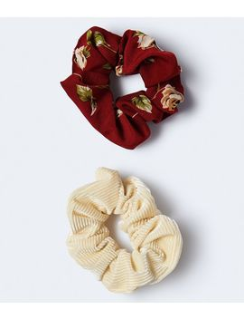 Multi Texture Scrunchie 2 Pack by Aeropostale