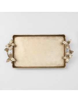 Decorative Tray With Leaf Handles   Gold   Opalhouse™ by Shop Collections