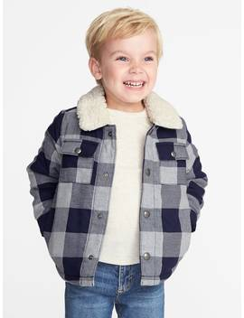 Sherpa Lined Plaid Shirt Jacket For Toddler Boys by Old Navy