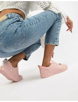 Ted Baker Pink Leather Ruffle Detail Sneakers by Ted Baker