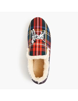 Embroidered Loafer Slippers In Tartan by J.Crew