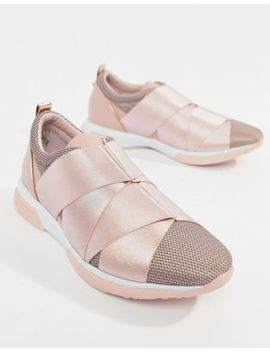 Ted Baker Strap Detail Light Pink Sporty Sneakers by Ted Baker