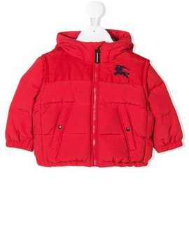 Logo Padded Coat by Burberry Kids